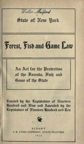 Download Forest, fish and game law