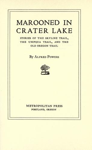 Download Marooned in Crater Lake