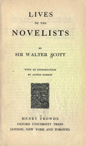 Lives of the novelists