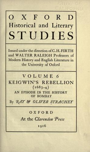 Download Keigwin's rebellion (1683-4)