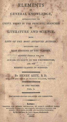 Download Elements of general knowledge