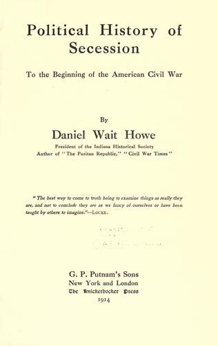 Political history of secession to the beginning of the American Civil War