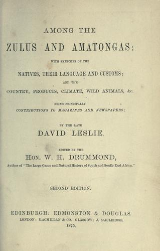 Download Among the Zulus and Amatongas