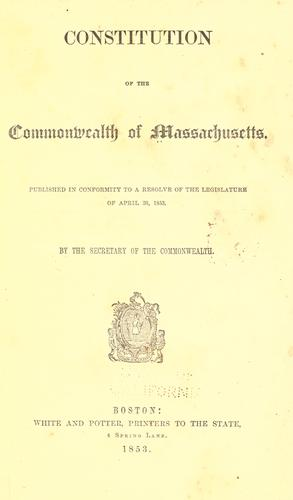 Download Constitution of the Commonwealth of Massachusetts