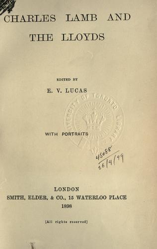 Download Charles Lamb and the Lloyds.