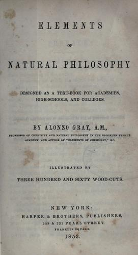 Download Elements of natural philosophy
