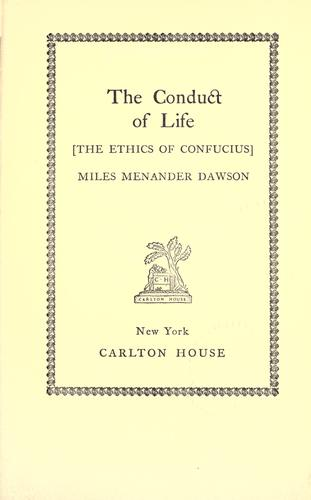 Download The conduct of life