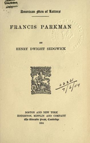 Francis Parkman.