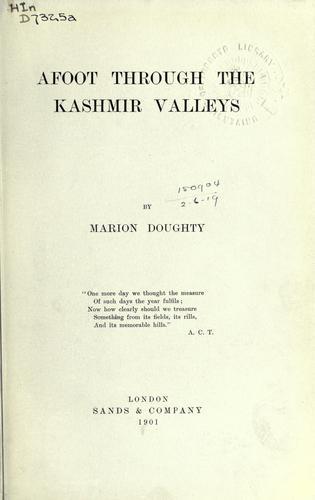 Download Afoot through the Kashmir Valleys.