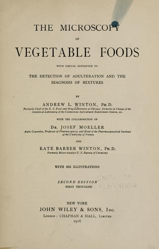 Download The microscopy of vegetable foods