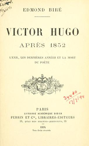Download Victor Hugo après 1852