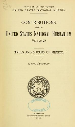 Download Trees and shrubs of Mexico