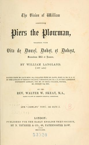Download The vision of William concerning Piers Plowman