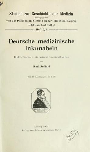 Download Deutsche medizinische Inkunabeln