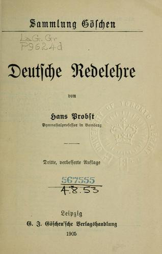 Deutsche Redelehre.