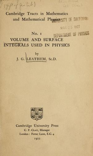 Download Volume and surface integrals used in physics.