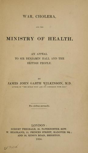Download War, cholera, and the Ministry of health