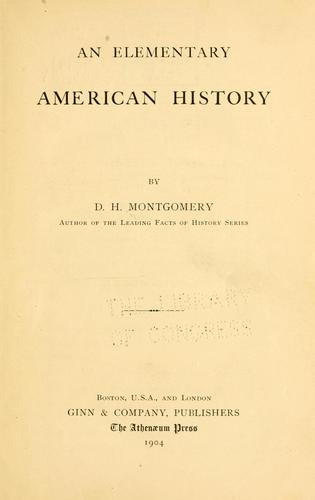 Download An elementary American history