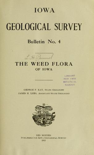 Download The weed flora of Iowa