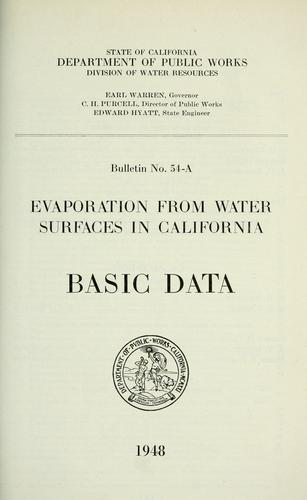Download Evaporation from water surfaces in California