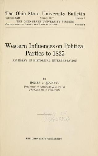 Download Western influences on political parties to 1825