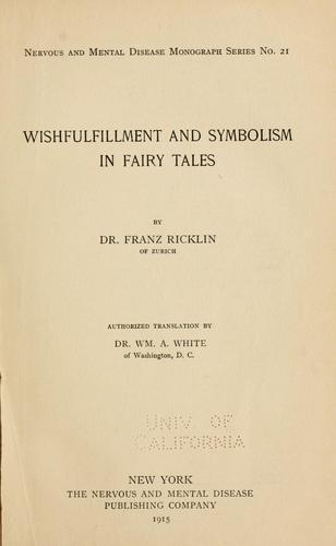 Download Wishfulfillment and symbolism in fairy tales