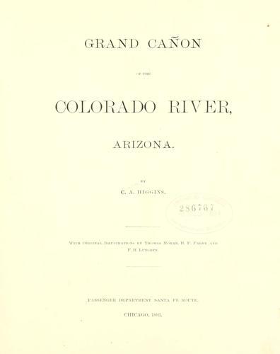 Grand cañon of the Colorado River, Arizona.
