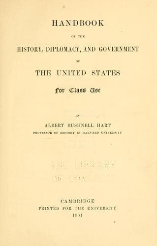 Download Handbook of the history, diplomacy, and government of the United States