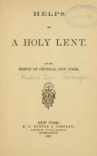 Download Helps to a holy Lent