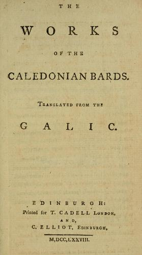 Download The works of the Caledonian bards