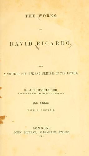 The works of David Ricardo.