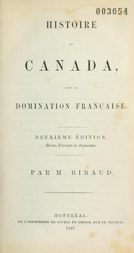 Histoire du Canada sous la domination française