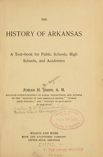The history of Arkansas