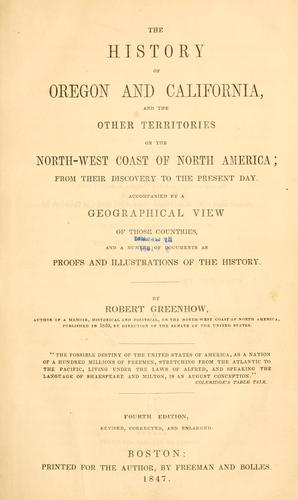 Download The history of Oregon and California, and the other territories of the north-west coast of North America