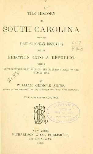 Download The history of South Carolina.