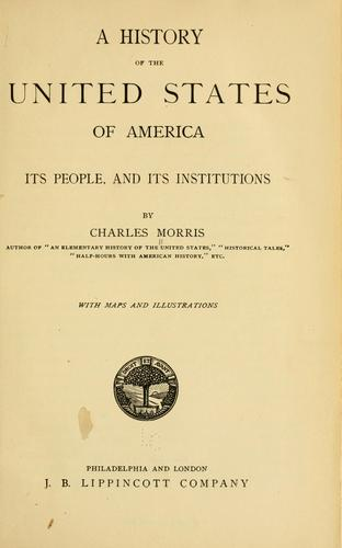 Download A history of the United States of America, its people and its institutions