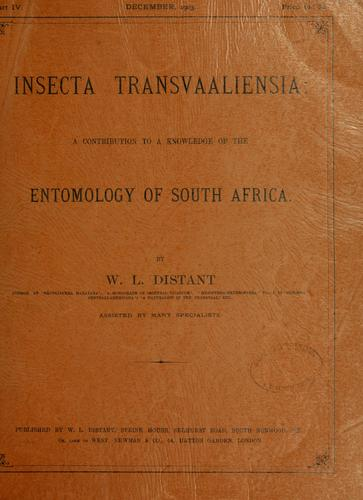 Download Insecta transvaaliensia