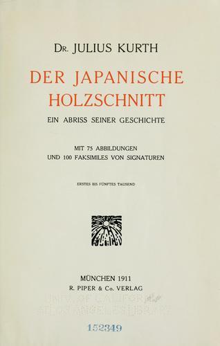Der japanische Holzschnitt.