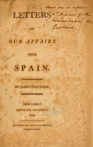 Letters on our affairs with Spain.