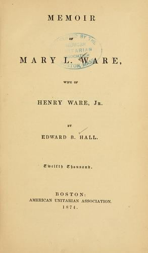 Download Memoir of Mary L. Ware