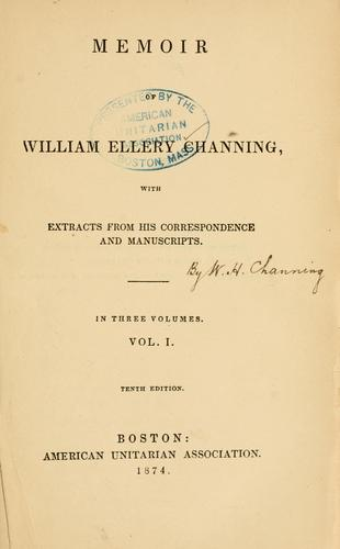 Memoir of William Ellery Channing