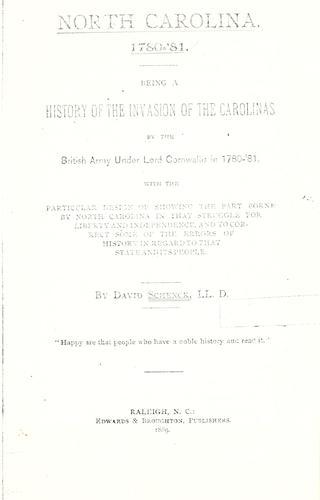 Download North Carolina, 1780-'81