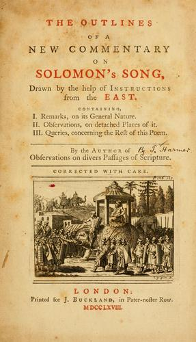 Download The outlines of a new commentary on Solomon's Song