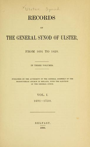 Records of the General Synod of Ulster