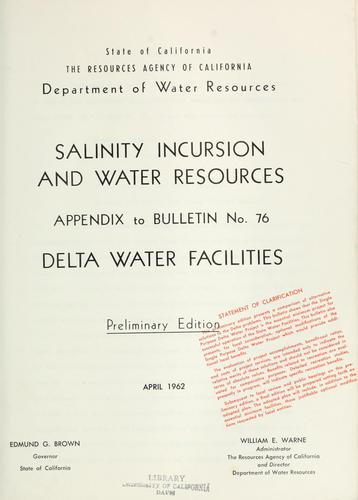 Download Salinity incursion and water resources