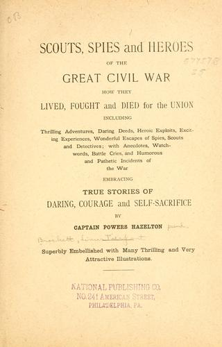 Download Scouts, spies and heroes of the great civil war