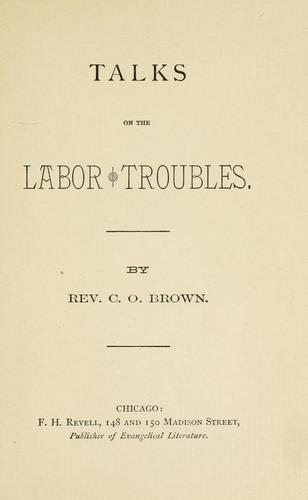 Download Talks on the labor troubles.