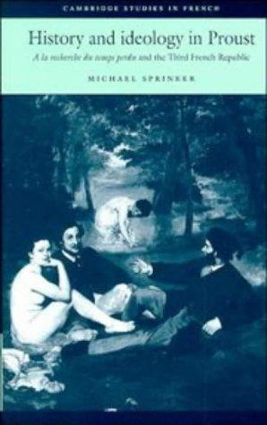 Download History and ideology in Proust