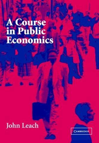 Download A Course in Public Economics