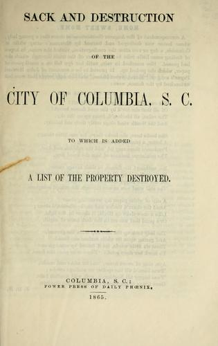 Download Sack and destruction of the city of Columbia, S.C.
